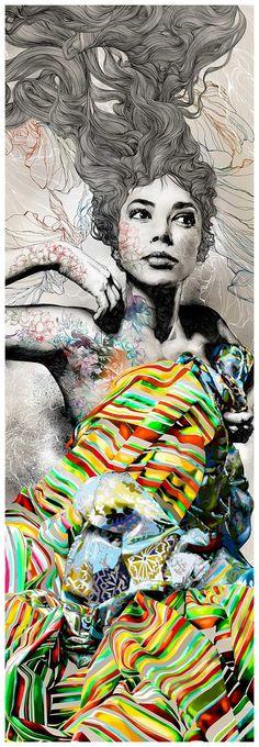 Super Cool line - Gabriel Moreno Illustrator, engraver and painter based in Madrid