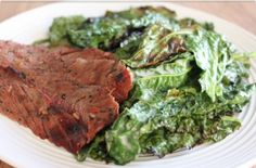 Sweet and Spicy Grilled Kale with Ginger Steak | Primal Blueprint Meal Plan