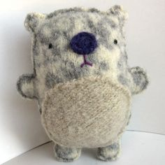 Hamster plush from recycled sweaters by #sighfoo Discovered due to #plushyou's blog.