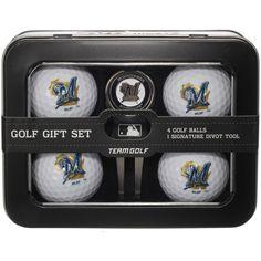 Milwaukee Brewers 2016 4 Golf Ball and Divot Tool Set