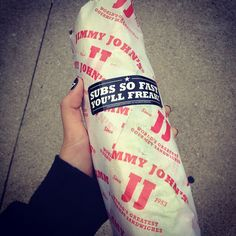 The perfect sandwich for the great outdoors! I need at least 1 italian night club and 1 roast beef. I love jimmy johns white bread, especially if it's not over baked and soft. Must need for Matt Palmer!