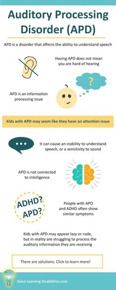 Auditory Processing Disorder, APD, Learning Disabi… Take a look at a mixture of pins all to do with the topic of Never before has there been a better time to Pin your favourite facts Auditory Processing Activities, Sensory Processing Disorder Symptoms, Calming Activities, Therapy Activities, Therapy Ideas, High Functioning Autism, Executive Functioning, Adhd Strategies, Learning Support
