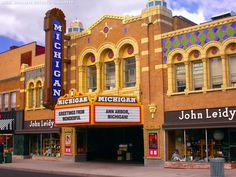 The Michigan Theatre in Ann Arbor as it appeared in 2003 just after restoration.  The picture can be purchased at Joe Braun Photography.