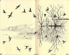Moleskine book, I just love birds!