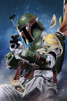 """Some more """"Fett-ish."""" ...see what I did right there? Manga Studio 5, Photoshop CC"""