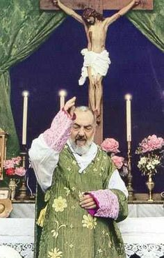 """""""MY CHILDREN WE CAN NOT PREPARE OURSELVES TOO MUCH FOR COMMUNION."""" (ST. PADRE PIO)"""