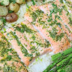 One Pan Salmon and Veggies with Cilantro Garlic Citrus Butter will impress your taste buds and leave you coming back for more!