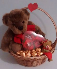 $30 @Ebay  Small Teddy Bear Happy Valentines Day Chocolate Gift Basket  #Handmade Valentines Day Baskets, Valentines Day Chocolates, Valentine Ideas, Valentine Day Crafts, Happy Valentines Day, Holiday Crafts, Small Teddy Bears, Valentine's Day Gift Baskets, Ebay Sale