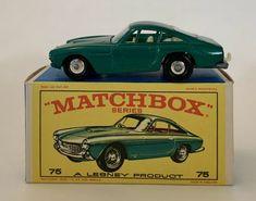 Lesney Matchbox Series 75 Green Ferrari Berlinetta With Original Box #Matchbox #FerrariBerlinetta