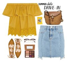 """Untitled #1420"" by timeak ❤ liked on Polyvore featuring Madewell, MICHAEL Michael Kors, Too Faced Cosmetics, Ray-Ban, DateNight, drivein and summerdate"