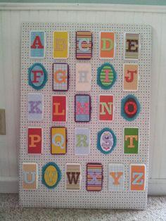 Wipes lids alphabet board