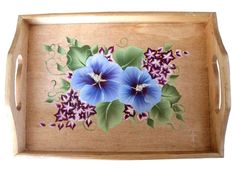 This tray is as functional as it is beautiful and will fill your home with blossoms that never wilt! Hand painted and sealed with a protective coating, you can use it in the middle of your table to hold napkins, salt and pepper, toothpicks, or hang it on the wall.  It makes an excellent housewarming, Mother's Day, wedding, shower, Christmas, Valentine's Day, or birthday gift.  ~~~~~~~~~~~~~~~~~~~~~~~~~~~ Product Details ~~~~~~~~~~~~~~~~~~~~~~~~~~~ Dimensions: The trays measure:  Large…