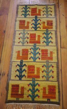Vintage 100% Wool Hand Knot Persian Turkish Kilim Prayer Rug Runner Wall Hanging #Unbranded