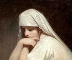 Portrait of Emma, Lady Hamilton, as 'Contemplation', George Romney