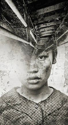 Haunting double exposure photography by Antonia Mora - http://www.mylovt.com/