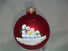 Cute ornament  Add hats or earmuffs--top hat, pointed hat, knitted ski hat, etc.
