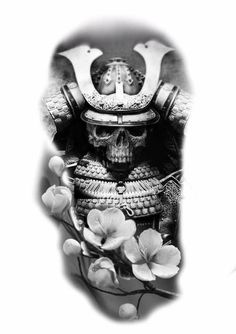 Japanese Tattoos For Men, Japanese Tattoo Designs, Japan Tattoo, Black And Grey Sleeve, Black And Grey Tattoos, Samourai Tattoo, Geisha Tattoo Design, Ozzy Tattoo, Samurai Artwork