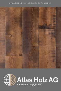 Antike Schalungen Piz Linard Color, Lärche sibirisch, gedämpft, Bandsägeschnitt, farblich geölt / Wall Panels Piz Linard Color, Sibirian Larch, steamed, gang-saw cut, color treated