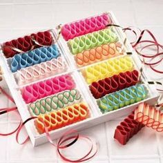 Ribbon candy - so Christmas - so 60's  I loved ribbon candy!  My grandma always had some in a pretty candy dish on top of her stereo.