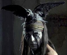 Johnny Depp in The Lone Ranger (2013)