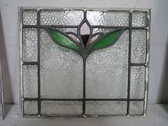 Edwardian Stained Glass Panel
