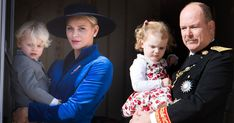 Monaco's Prince Jacques and Princess Gabriella appeared twice during the National Day celebrations