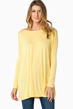 ShopSosie Style : Cozy Tunic in Yellow by Piko