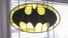 Stained Glass Batman Bat Signal