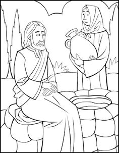 Jesus & the woman at the well