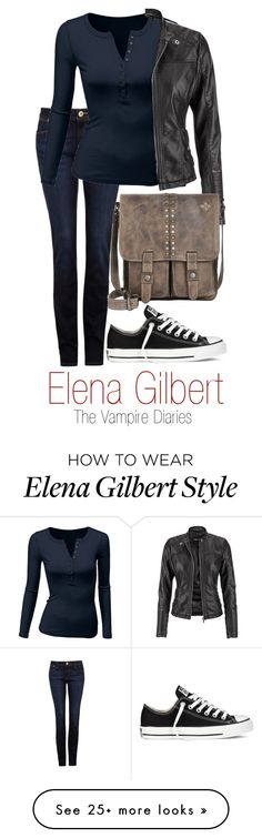 """Elena Gilbert"" by disney-addicted on Polyvore featuring moda, DL1961 Premium Denim, Doublju, maurices, Converse, Patricia Nash, NinaDobrev, thevampirediaries e Elena"
