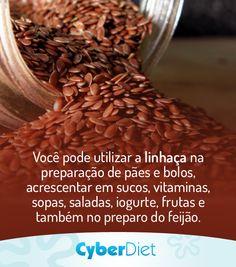 Como incluir a semente de linhaça na sua alimentação, confira dicas: http://maisequilibrio.com.br/como-incluir-a-semente-de-linhaca-na-sua-alimentacao-2-1-1-180.html?origem=Pinterest