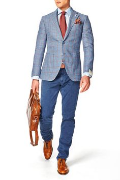 Knitted tie and a fancy pocket square | online shop http://manlist.pl/pl/c/krawaty/13