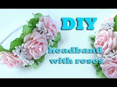 DIY headband with  roses / Kanzashi tutorial