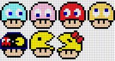 Mushroom Pac-Man perler bead patterns