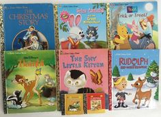 Little Golden Books Lot 8 Holiday Halloween Easter Christmas Bambi Pooh Kittens