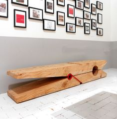 Giant clothespin bench