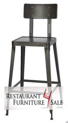 This strong 16-gauge steel bar stool with back has a modern industrial look that is trending in the hipster restaurant design world.  The flexible back has fully concealed supports, and you can opt to upgrade the cool metal seat to a vinyl seat pad or reclaimed wood seat.  The steel frame is finished in an antique rust color. The backrest on Simon was tested for durability and passed the ANSI/BIFMA clause 16. Item Number: RF4-W-808BS-RUST