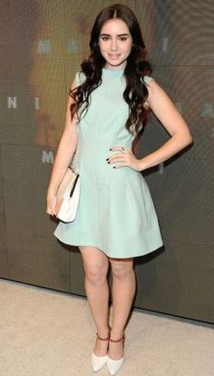 Lily Collins wearing Marni, at the Marni at H Collection Launch in LA Style Lily Collins, Lily Collins Dress, Celebrity Outfits, Celebrity Look, Vestidos Vintage, Vintage Dresses, Fashion Week, Look Fashion, Dress Fashion