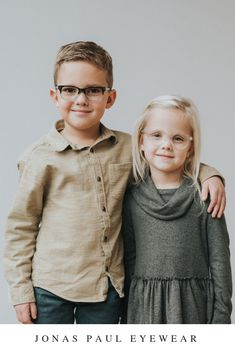 f815df15ef Clear and blue eyeglasses frames for children. These Jonas Paul Eyewear  prescription glasses are stylish