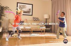 コンドームやディルドで無邪気に遊ぶ子供たち…銃の安全な保管を啓発するユーモラスな広告 | AdGang