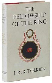 The Fellowship of the Ring (1st book)... begins in a light vein, following the tone of The Hobbit. Bilbo Baggins celebrates his 111th (or eleventy-first in Hobbiton) birthday on the same day, September 22, that his relative and adopted heir Frodo Baggins celebrates his coming of age at 33. At the birthday party, Bilbo departs from the Shire, the land of the Hobbits, for what he calls a permanent holiday. He leaves Frodo his remaining belongings, including Bag End, and the Ring he had found…