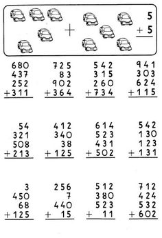 Adicao 3rd Grade Math Worksheets, Math Workbook, School Worksheets, English Lessons For Kids, English Worksheets For Kids, Math Drills, Math Sheets, Learning Websites, Preschool Learning Activities