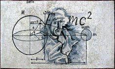 Albert Einstein Marble Mosaic Mural