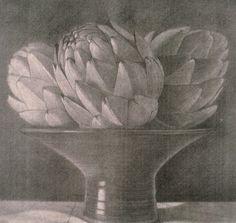 Edgar Soberon Silk monotype 18 x 18 in Graphite