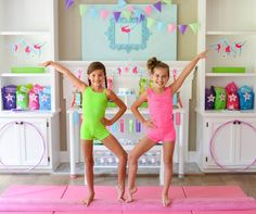Gymnastics Birthday Party Ideas for teens, tweens and little girls!