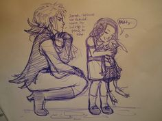 i don't really know what this is supposed to be like (like if Jareth knew Sarah from when she was little) but it's cute