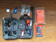 This is a Maxpedition EDC pouch that holds miscellaneous items I carry in my basic urban bag.
