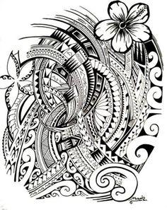 Tattoo symbols of Polynesia