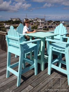 Tall Deck Chairs And Bar Table By This Little Cottage OBX. Hatteras, North  Carolina. | Coastal Furniture Designs | Pinterest | Deck Chairs, ...