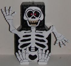 A brick patio paver turned into a skeleton! Facebook-Thewoodbin
